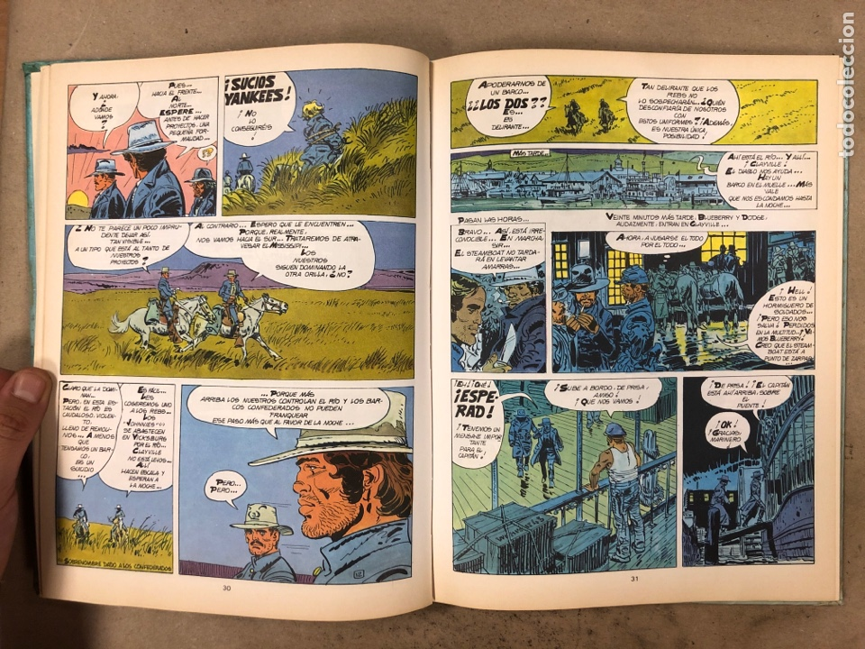Cómics: LAS AVENTURAS DE TENIENTE BLUEBERRY N° 7. CHARLIER - GIRAUD - WILSON. GRIJALBO DARGAUD. 3 NÚMEROS. - Foto 4 - 174993219