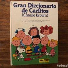 Cómics: GRAN DICCIONARIO DE CARLITOS (CHARLIE BROWN). DE LA A A LA Z, (ESPAÑOL/INGLÉS). GRIJALBO. . Lote 175157288
