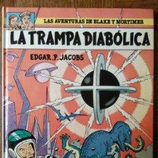 Cómics: LAS AVENTURAS DE BLAKE Y MORTIMER, LA TRAMPA DIABOLICA - EDICIONES GRIJALBO 1985- TAPA DURA. Lote 175993792