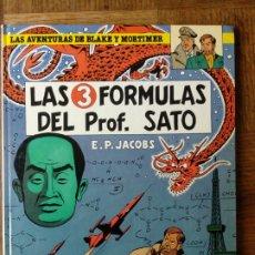 Cómics: LAS AVENTURAS DE BLAKE Y MORTIMER, LAS 3 FORMULAS DEL PROF. SATO- EDICIONES GRIJALBO 1986- TAPA DURA. Lote 175993969