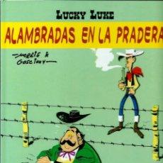 Cómics: LUCKY LUKE, DE MORRIS - ALAMBRADAS EN LA PRADERA - SALVAT 2002 - COMO NUEVO. Lote 176093984