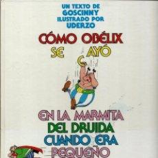 Cómics: COMO OBELIX SE CAYO EN LA MARMITA DEL DRUIDA CUANDO ERA PEQUEÑO - ED. JUNIOR 1989 1ª EDICION. Lote 176105794