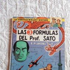 Cómics: LAS AVENTURAS DE BLAKE Y MORTIMER - LAS 3 FORMULAS DEL PROFESOR SATO N. 8. Lote 176162208