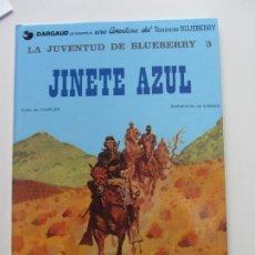 Cómics: LA JUVENTUD DE BLUEBERRY 3 JINETE AZUL. EDITORIAL GRIJALBO/DARGAUD CHARLIER Y GIRAUD BUEN ESTADO. Lote 176462720