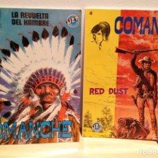 Comics : COMANCHE (2 CÓMICS), LA REVUELTA DEL HAMBRE Y RED DUST TAPA BLANDA. Lote 177301592