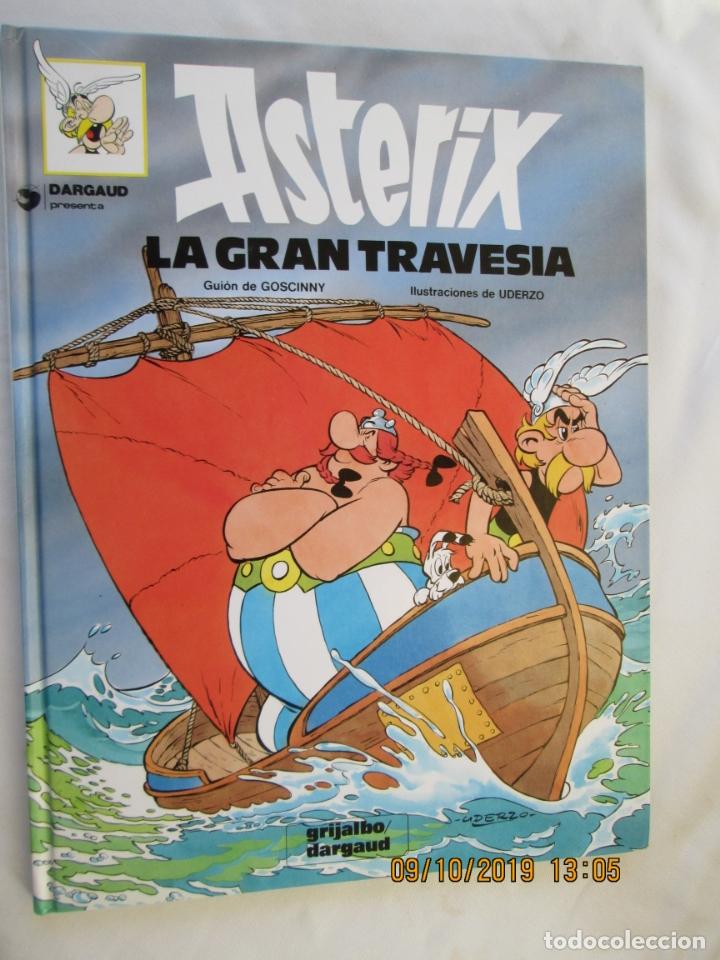 ASTÉRIX LA GRAN TRAVESÍA - GRIGALBO/DARGAUD - PRIMERA EDICIÓN 1975. (Tebeos y Comics - Grijalbo - Asterix)