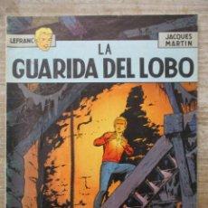 Cómics: LEFRANC - LA GUARIDA DEL LOBO - JACQUES MARTIN - RUSTICA -GRIJALBO / JUNIOR. Lote 178100515