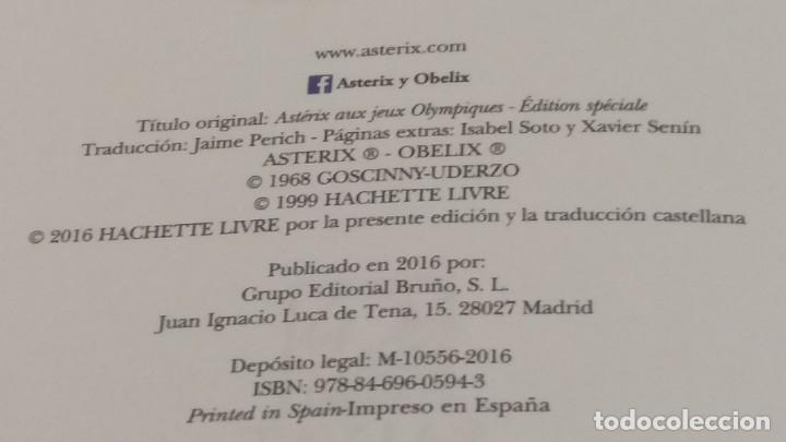 Cómics: Astérix y los juegos olímpicos, tapa dura, edición especial limitada, Bruñó Salvat 2016 - Foto 2 - 178217116