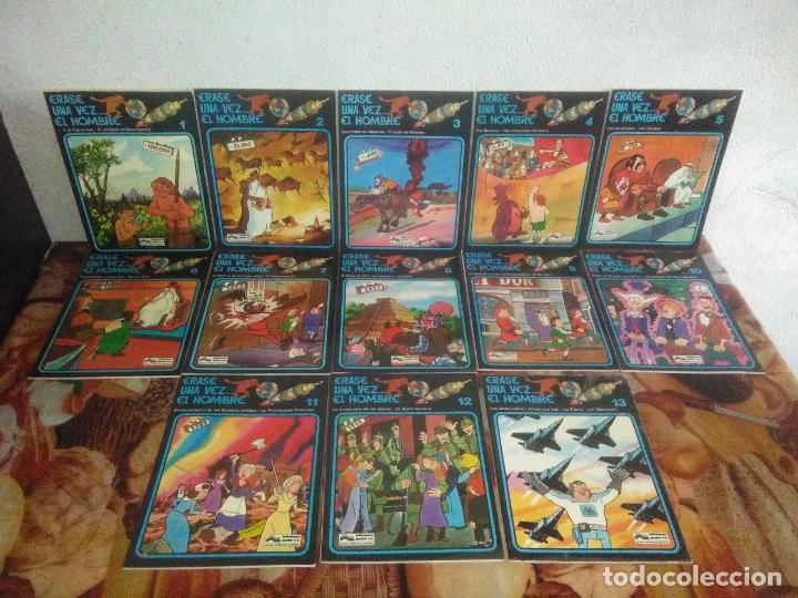COLECCIÓN COMPLETA DE 13 CÓMICS ÉRASE UNA VEZ EL HOMBRE EDICIONES JUNIOR / GRIJALBO 1979 (Tebeos y Comics - Grijalbo - Otros)