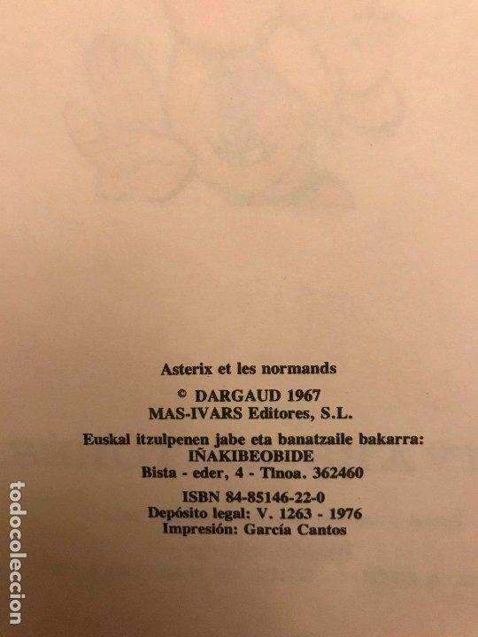 Cómics: ASTERIX ETA NORMANDOAK / Y LOS NORMANDOS. EUSKERA VASCO. MAS IVARS 1ª EDICION 1976 - Foto 4 - 213765246