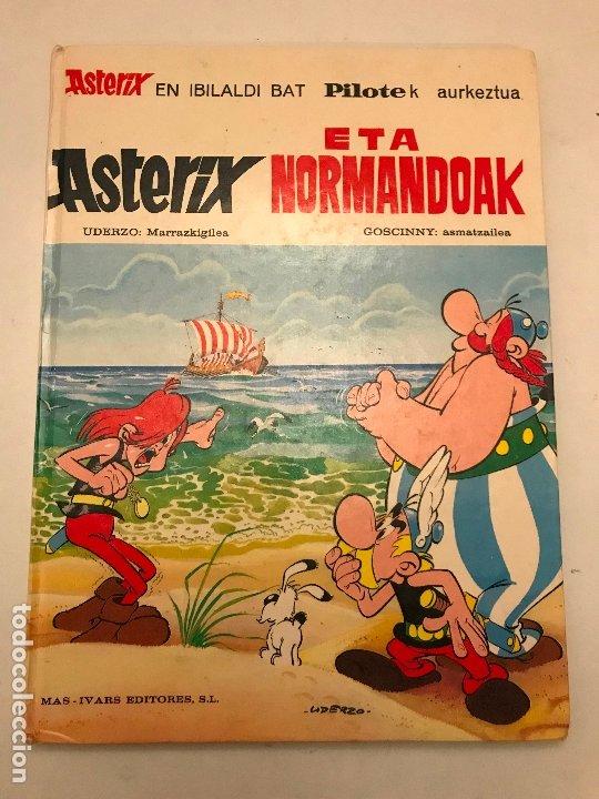 ASTERIX ETA NORMANDOAK / Y LOS NORMANDOS. EUSKERA VASCO. MAS IVARS 1ª EDICION 1976 (Tebeos y Comics - Grijalbo - Asterix)