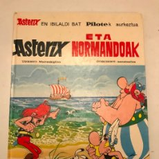 Cómics: ASTERIX ETA NORMANDOAK / Y LOS NORMANDOS. EUSKERA VASCO. MAS IVARS 1ª EDICION 1976. Lote 179156380