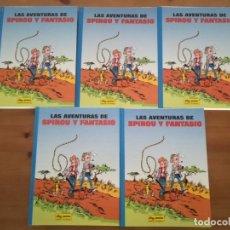 Cómics: SPIROU Y FANTASIO. JUNIOR GRIJALBO. 5 TOMOS, COLECCIÓN COMPLETA. Lote 180926091