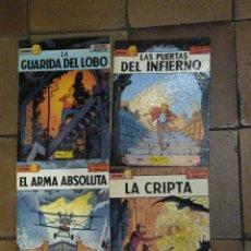 Cómics: LEFRANC 4, 5, 8 Y 9 LA GUARIDA DEL LOBO, LAS PUERTAS DEL INFIERNO, EL ARMA ABSOLUTA Y LA CRIPTA. . Lote 180998082