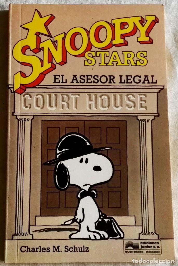 SNOOPY STARS, EL ASESOR LEGAL; CHARLES M. SCHULZ - EDICIONES JUNIOR 1990 (Tebeos y Comics - Grijalbo - Otros)