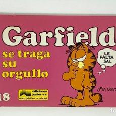 Cómics: CÓMIC GARFIELD -SE TRAGA SU ORGULLO- Nº18 EDICIONES JUNIOR S.A GRUPO EDITORIAL GRIJALBO. Lote 182630356