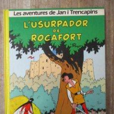 Cómics: LES AVENTURES DE JAN I TRENCAPINS - L´USURPADOR DE ROCAFORT - EDICIONES DARGAUD / GRIJALBO. Lote 183306138