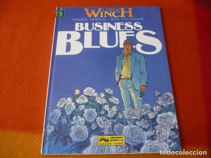 LARGO WINCH 4 BUSINESS BLUES ( FRANCQ VAN HAMME ) ¡MUY BUEN ESTADO! JUNIOR 1994 TAPA DURA (Tebeos y Comics - Grijalbo - Largo Winch)