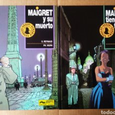 Cómics: LOTE MAIGRET SEGÚN GEORGES SIMENON. COMPLETA: MAIGRET Y SU MUERTO/MAIGRET TIENDE UNA TRAMPA.. Lote 184015313