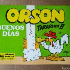 Cómics: ORSON N°4: BUENOS DÍAS, POR JIM DAVIS (JUNIOR/GRIJALBO, 1989). INTERIOR EN B/N.. Lote 184016527