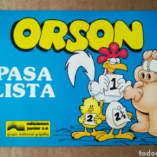Cómics: ORSON N°2: PASA LISTA, POR JIM DAVIS (JUNIOR/GRIJALBO, 1989). INTERIOR EN B/N.. Lote 184016581