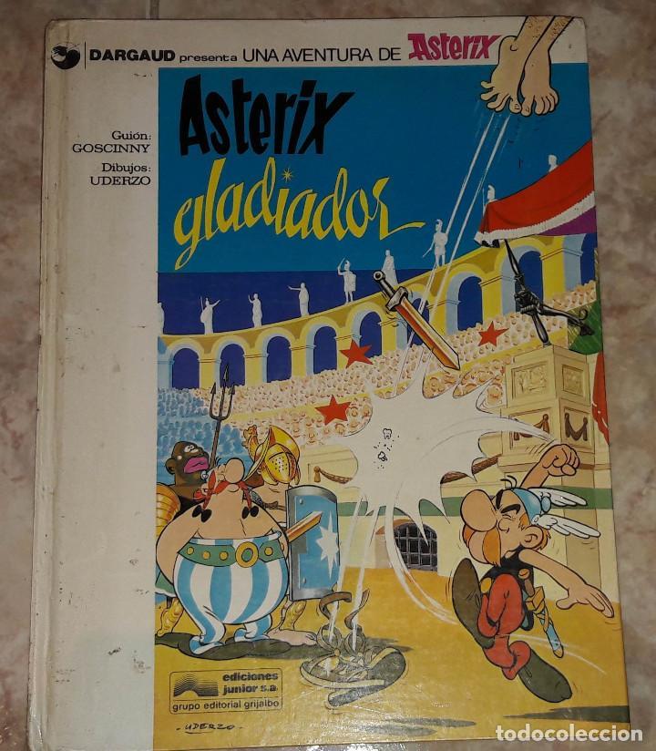 ASTERIX GLADIADOR DARGAUD GRIJALBO GUIÓN GOSCINNY DIBUJOS UDERZO (Tebeos y Comics - Grijalbo - Asterix)