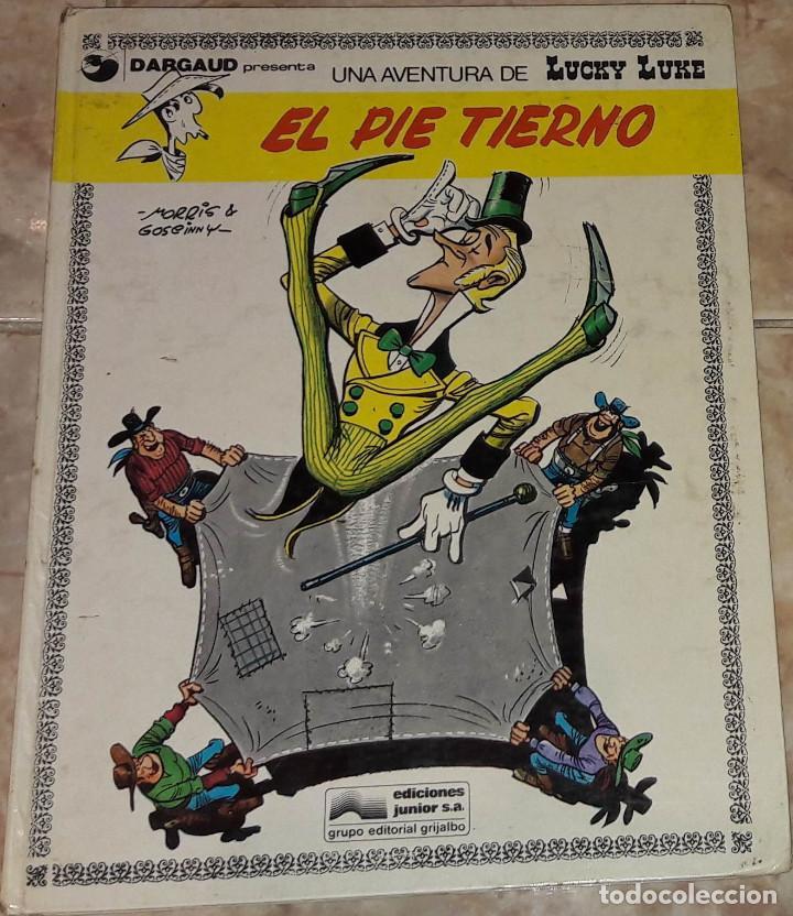 LUCKY LUKE EL PIE TIERNO GUION GOSCINNY ILUSTRACIONES MORRIS EDICIONES JUNIOR (Tebeos y Comics - Grijalbo - Lucky Luke)
