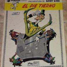Cómics: LUCKY LUKE EL PIE TIERNO GUION GOSCINNY ILUSTRACIONES MORRIS EDICIONES JUNIOR . Lote 184252688