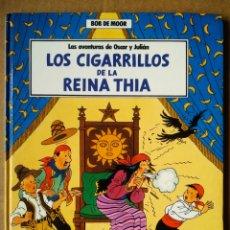 Cómics: LAS AVENTURAS DE ÓSCAR Y JULIÁN N°5: LOS CIGARRILLOS DE LA REINA THIA, POR BOB DE MOOR/ JUNIOR, 1989. Lote 184758956