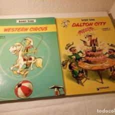 Cómics: LOTE DE 2 TEBEOS LUCKY LUKE DALTON CITY, WESTERN CIRCUS, DARGAUD 1970/77. Lote 189586278
