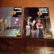 Comics : MAIGRET REYNAUD SIMENON COMPLETA MAIGRET Y SU MUERTO MAIGRET TIENDE UNA TRAMPA JUNIOR-GRIJALBO. Lote 190020025