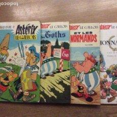 Cómics: LOTE DE 4 PRIMERAS EDICIONES DE ASTERIX EN FRANCÉS ASTERIX LE GAULOIS GOTHS NORMANDS LEGIONNAIRE. Lote 190023086