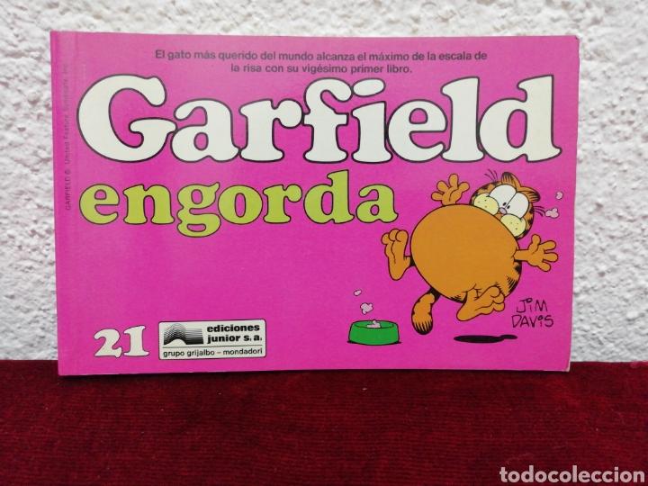 GARFIELD ENGORDA. N° 21. AÑO 1990. EDITORIAL GRIJALBO. EDICIONES JUNIOR. (Tebeos y Comics - Grijalbo - Otros)