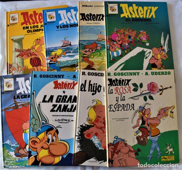ASTERIX Nº 5, 8,19, 22, 25, 27 Y 29 -GUION DE GOSCINNY, ILUSTRACIÓN DE UDERZO (Tebeos y Comics - Grijalbo - Asterix)