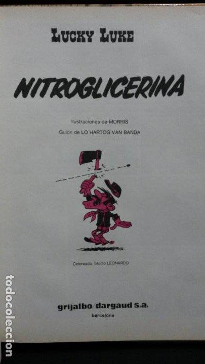 Cómics: NITROGLICERINA. LUCKY LUKE. MORRIS & LO HARTOG VAN BANDA. GRIJALBO 1987. - Foto 8 - 191709302