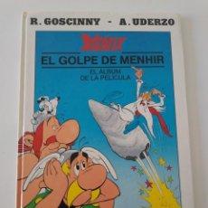 Cómics: ASTÉRIX EL GOLPE DE MENHIR EL ÁLBUM DE LA PELÍCULA EDICIONES JUNIOR1990. Lote 191801032