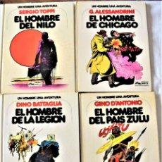 Fumetti: LOTE 4 TOMOS UN HOMBRE Y UNA AVENTURA Nº 1, 2, 3 Y 4 - AÑOS 1978 Y 1979. Lote 191907818