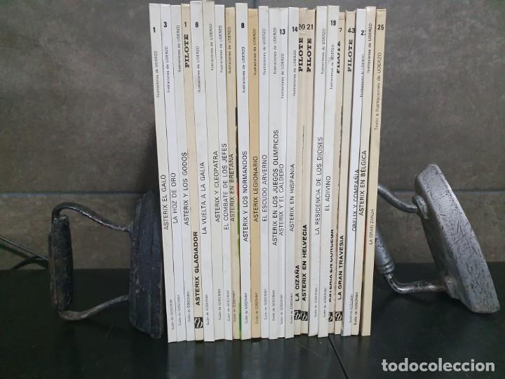 Cómics: LOTE DE 23 LIBROS DE ASTERIX, SE VENDEN JUNTOS. ILUSTRACIONES DE UDERZO. PILOTE. TEBEOS. GOSCINNY. - Foto 2 - 190870240