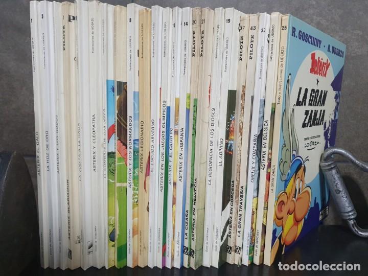 Cómics: LOTE DE 23 LIBROS DE ASTERIX, SE VENDEN JUNTOS. ILUSTRACIONES DE UDERZO. PILOTE. TEBEOS. GOSCINNY. - Foto 3 - 190870240