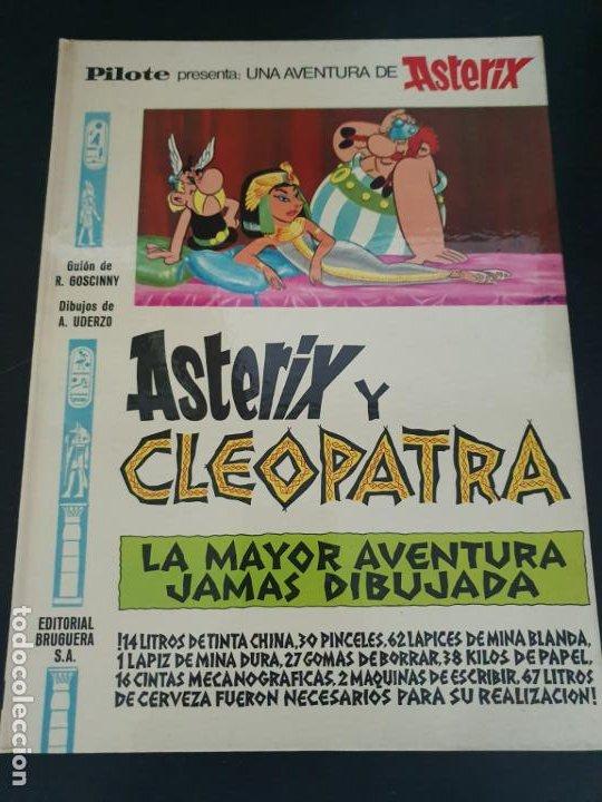 ASTERIX Y CLEOPATRA: LA MAYOR HISTORIA JAMAS DIBUJADA. PILOTE. R. GOSCINNY - A UDERZO. BRUGUERA 1969 (Tebeos y Comics - Grijalbo - Asterix)