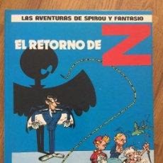 Cómics: SPIROU Y FANTASIO 18 - EL RETORNO DE Z - JUNIOR / GRIJALBO - TAPA DURA - MUY BUEN ESTADO - GCH1. Lote 192548705