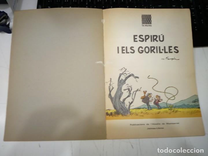 Cómics: FRANQUIN - ESPIRU I ELS GORIL·LES - COL·LECCIÓ LA XARXA Nº 6 - EN CATALA - TAPA TOVA - ANYS 60 - RAR - Foto 2 - 170873205