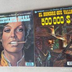 Cómics: 2 COMICS TENIENTE BLUEBERRY GRIJALBO Nº 7 CHIHUAHUA PEARL Y 8 EL HOMBRE QUE VALIA 500.000 $. Lote 193300348