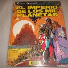 Cómics: VALERIAN 1 EL IMPERIO DE LOS MIL PLANETAS ROZADURAS EN EL LOMO. Lote 194573770