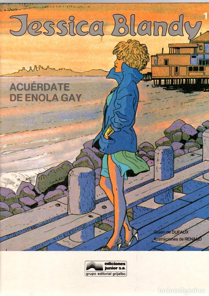 JESSICA BLANDY. Nº 1. ACUERDATE DE ENOLA GAY. GRIJALBO, 1989 (Tebeos y Comics - Grijalbo - Otros)