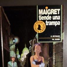 Cómics: MAIGRET TIENDE UNA TRAMPA (JUNIOR, 1994) DE REYNAUD Y WURM. SEGÚN SIMENON. Lote 195172551