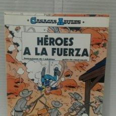 Cómics: CASACAS AZULES HÉROES A LA FUERZA. NUEVO. N° 1. SALVÉRIUS CAUVIN. GRIJALBO. RÚSTICA. 1984.. Lote 195231576