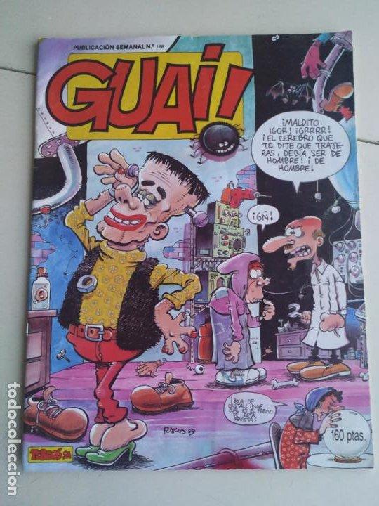 GUAI! N° 166 (TEBEOS S.A. 1989). (Tebeos y Comics - Grijalbo - Otros)