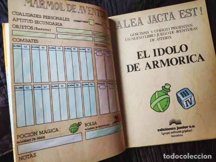 Cómics: ASTÉRIX ALEA JACTA EST Nº 2 EL ÍDOLO DE ARMORICA - GRIJALBO 1988 - LIBRO JUEGO - RARO - Foto 4 - 195313772