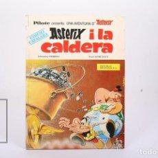 Cómics: CÓMIC DE TAPA DURA EN CATALÁN - ASTERIX I LA CALDERA - ED. BRUGUERA, 1969 - 1ª EDICIÓN EN CATALÁN. Lote 195482125